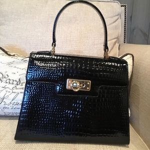 Leather Alligator Embossed Pattern Leather Bag
